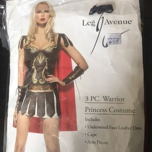 3 pc warrior princess costume
